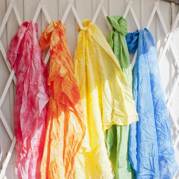 siden shawl  dye