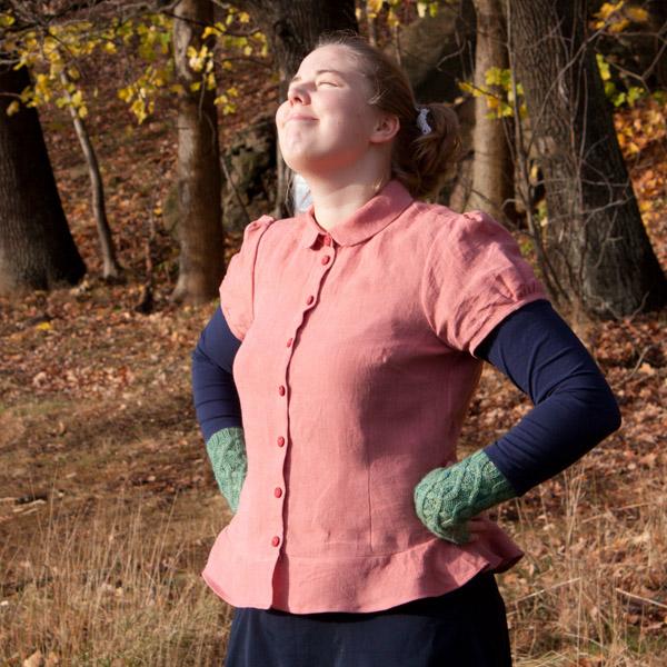 Peplum shirt linnen sewing