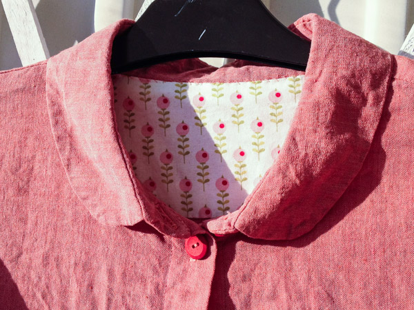 Peplum shirt linnen sewing