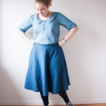 circle skirt banksia top