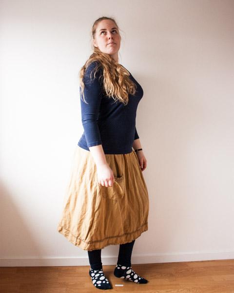 remake yellow skirt