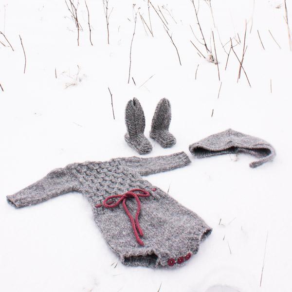vinterdrakt romper baby hat socks