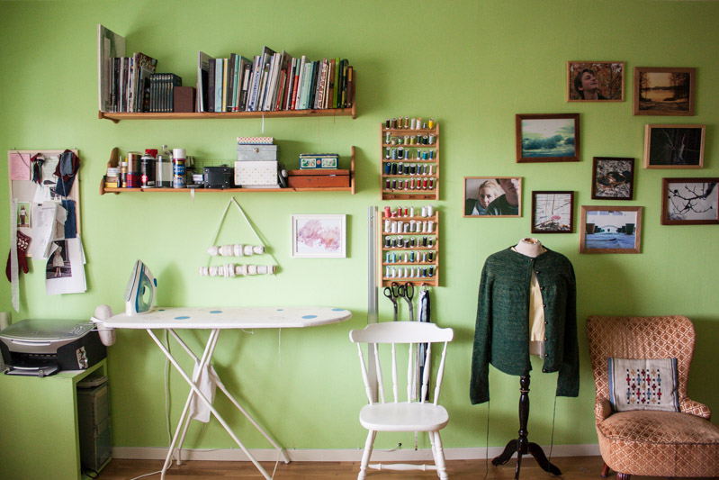 studio home sewing space