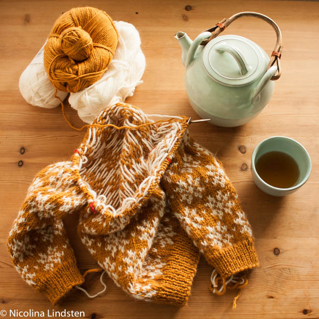 Saffran baby cardigan sweater docksjo design